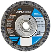 "Norton Bear-Tex Rapid Finish Depressed Center Abrasive Polishing Wheel, Type 27, Fiber Backing, 5/8""-11 Arbor, Silicon Carbide, 4-1/2"" Diameter (Pack of 1)"
