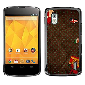Qstar Arte & diseño plástico duro Fundas Cover Cubre Hard Case Cover para LG Google NEXUS 4 / Mako / E960 ( Europe Flag Spain Portugal Iceland Map)