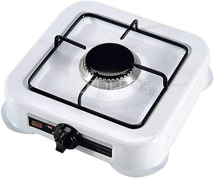 Hornillo 1 fuego hornillo de camping cocina a gas GLP viaje de acero