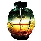 ShenPr Unisex Men's Galaxy 3D Print Long Sleeve Sweatshirts Pullovers Tops Fashion Hoodies Sweatshirts