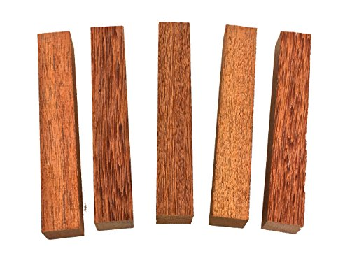 5 Solid Sucupira Brazilian Chestnut Pen Blanks