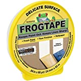 FrogTape Delicate Surface Painting Tape, 0.94 in. x 60 yd. Roll, Yellow (280220)