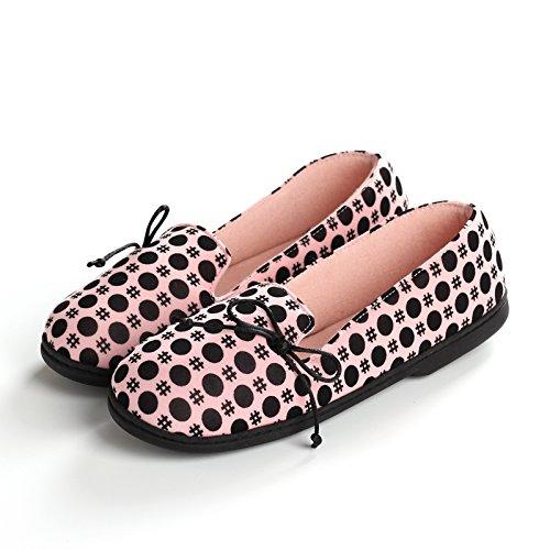 Aemember zapatos primavera y verano bolsas con fondo blando Antideslizante inferior grueso, fino, pantuflas, Doudou zapatos otoño,38-39,Pink Dot 38-39 Pink Dot