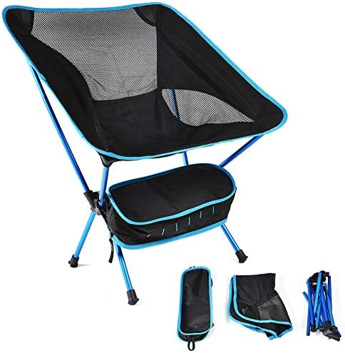 Yimeezuyu Camping Chair Portable Ultralight Camping Folding Chairs with Aluminum Frame for Outdoor, Camp, Picnic, Hiking red