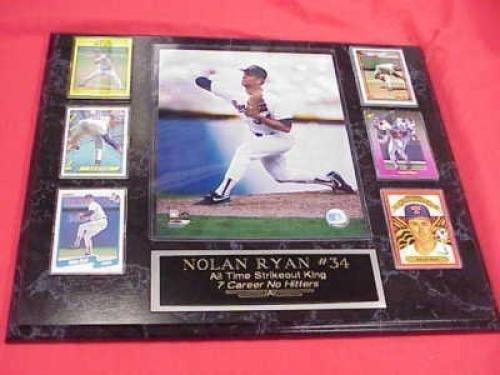 Rangers Nolan Ryan 6 Card Collector Plaque w/8x10 Action Photo