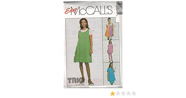 8012 McCalls Sewing Pattern UNCUT Misses Maternity Jumper Jumpsuit Top Pull on Pants Size 8 10 12