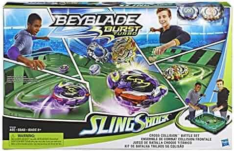 BEYBLADE Burst Turbo Slingshock Cross Collision Battle Set -- Complete Set with Burst Beystadium, Battling Tops, & Launchers -- Age 8+