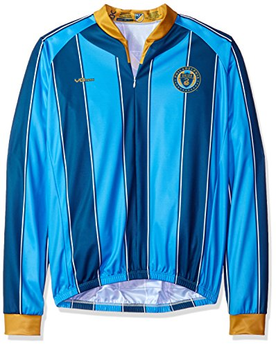 VOmax MLS Philadelphia Union Men s Original Striped Long Sleeve Cycling  Jersey 1b0938220