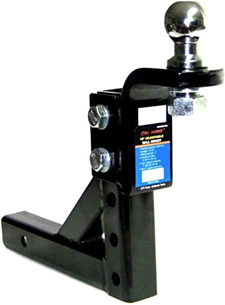 """Chrome 10/"""" Adjustable Trailer Drop Hitch Mount for 2/"""" Receiver /& 2/"""" hitch ball"""