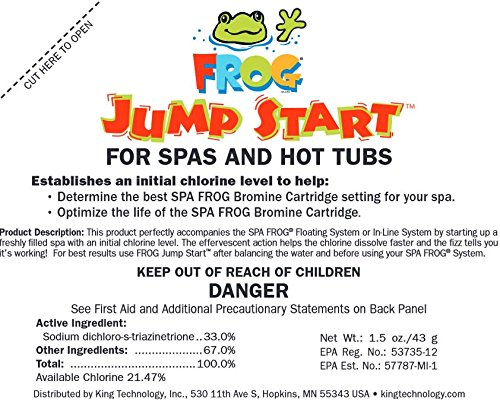 4) Spa Frog 01-14-6012 Hot Tub Mineral Jump Start Shock Chlorine Packets (Four)