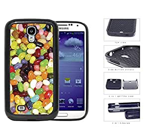 Assorted Jelly Bean Flavors 2-Piece Dual Layer High Impact Rubber Silicone Cell Phone Case Samsung Galaxy S4 SIV I9500