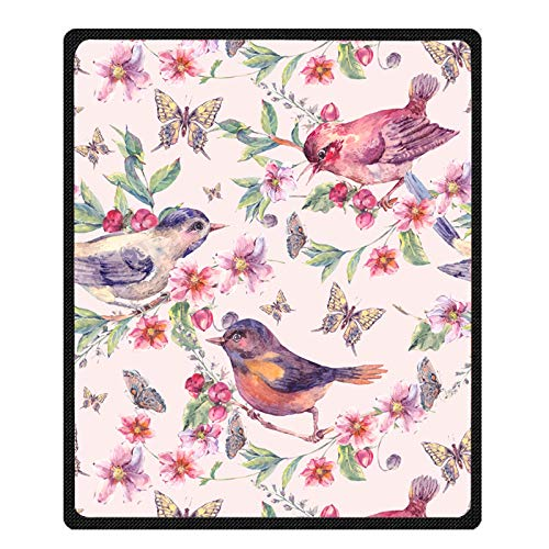 Ormis Birds on Branches and Butterflies Bed/Sofa Super Soft Throw Blanket 58x80inch