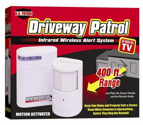 Driveway Patrol Garage Motion Sensor Alarm Infrared Wireless Alert Secure System-New