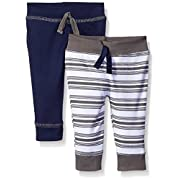 Yoga Sprout Baby 2 Pack Pants, Charcoal/Navy, 0-3 Months