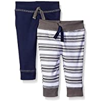 Yoga Sprout Baby 2 Pack Pants, Navy/Gray, 3-6 Months