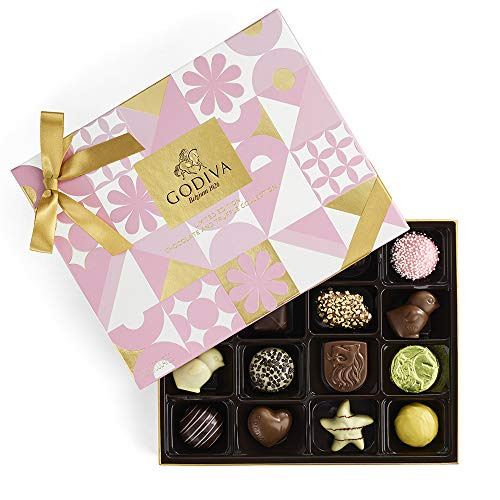 Godiva Chocolatier Assorted Chocolate Spring Gift Box, Gift for Mom, Gifts for Her, Chocolate Gifts, Great as a Gift, 16 - Godiva Spring