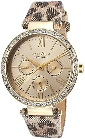 Caravelle New York Women s 44N103 Analog Display Analog Quartz Yellow Watch