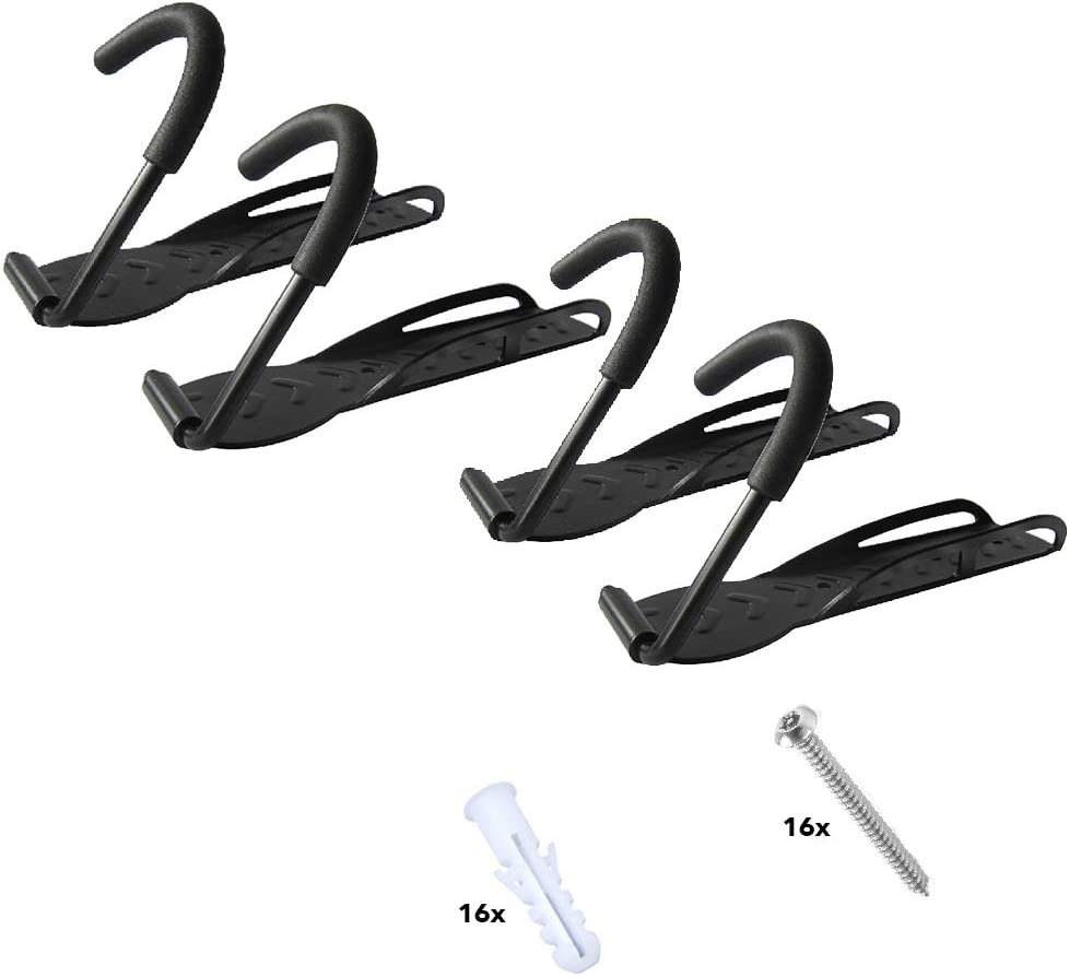 2er Montagematerial RASENFREUND/® 2 St/ück Fahrradhalter Wandhalterung schwarz Fahrradhalterung f/ür 2 Fahrr/äder Wandhalterungen Wand Halterungen Halterung Fahrradst/änder inkl