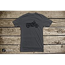 Motorcycle Collage of Bikes, Choppers, Dirt Bikes and Parts - Men's Biker Cotton T Shirt