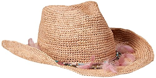 ale by alessandra Women's Arabella Raffia Cowboy Hat With Rated UPF 40