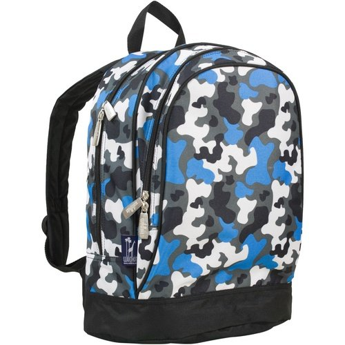 Wildkin 15 Inch Backpack, Extra Durable Backpack with Padded Straps and Interior Moisture-Resistant Lining, Perfect for School or Travel – Blue Camo