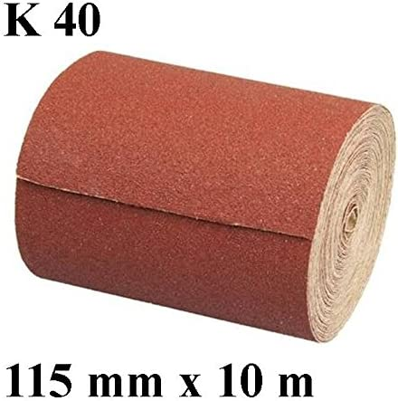 1/rouleau de papier abrasif r/ésine abrasif grain 40/Longueur 10/m//largeur 115/mm