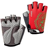 SBD VEBE Womens Sports Professional Non-Slip Biking Riding Gloves Cycling Accessaries,Red,S