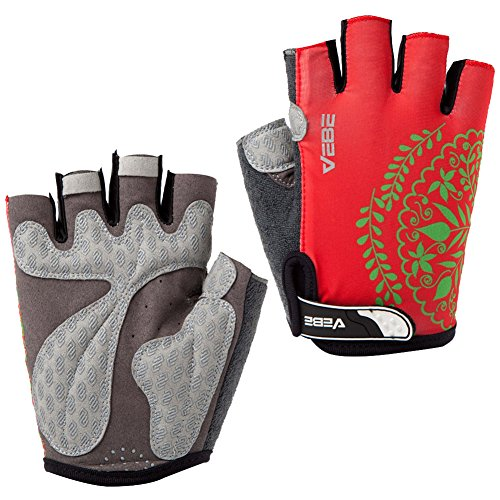 Windstopper Womans (SBD VEBE Womens Sports Professional Non-Slip Biking Riding Gloves Cycling Accessaries,Red,XL)