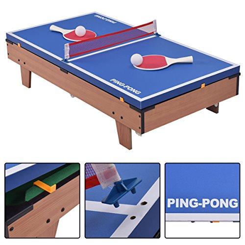 Amazon.com : 4 In 1 Multi Combo Foosball Soccer Table Family Sport Game Air  Hockey Tennis Football Pool : Sports U0026 Outdoors