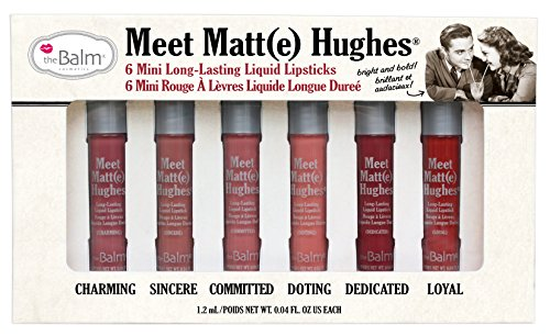 Meet Matt e Hughes Set of 6 Mini Long-Lasting Liquid Lipsticks