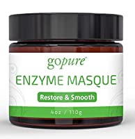 goPure Enzyme Facial Mask - Glycolic Acid Face Mask - Anti Aging and Hydrating Facial Mask - 4oz made by goPURE Naturals