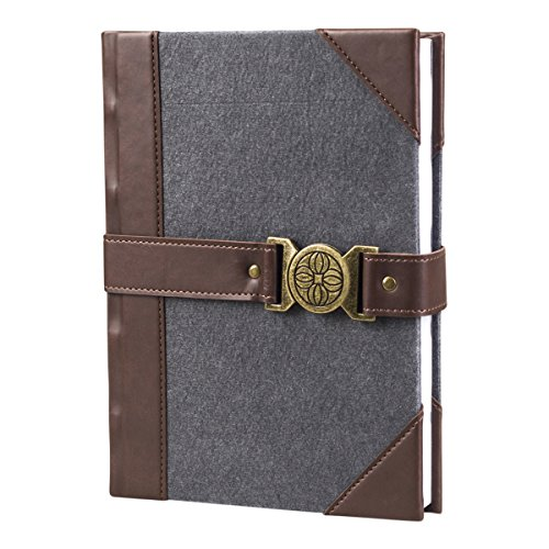 DaySpring Premium Journal Diary Notebook with Closure Details, Grey Felt