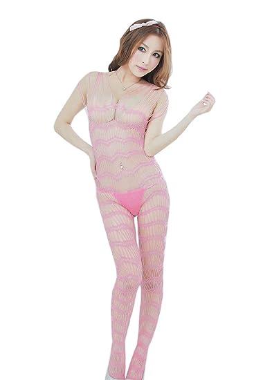 d7381c5c3d3 Amazon.com  Kmety Women Sexy Lingerie Sleepwear Nightwear Fishnet Bodysuit  Bodystocking  Clothing