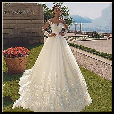 QING XIN-1225 Wedding Dress,Prom Dresses Ilusión Una línea de ...