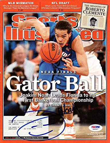 Joakim Noah Autographed Sports Illustrated Magazine Florida Gators #X65357 PSA/DNA Certified Autographed College Magazines