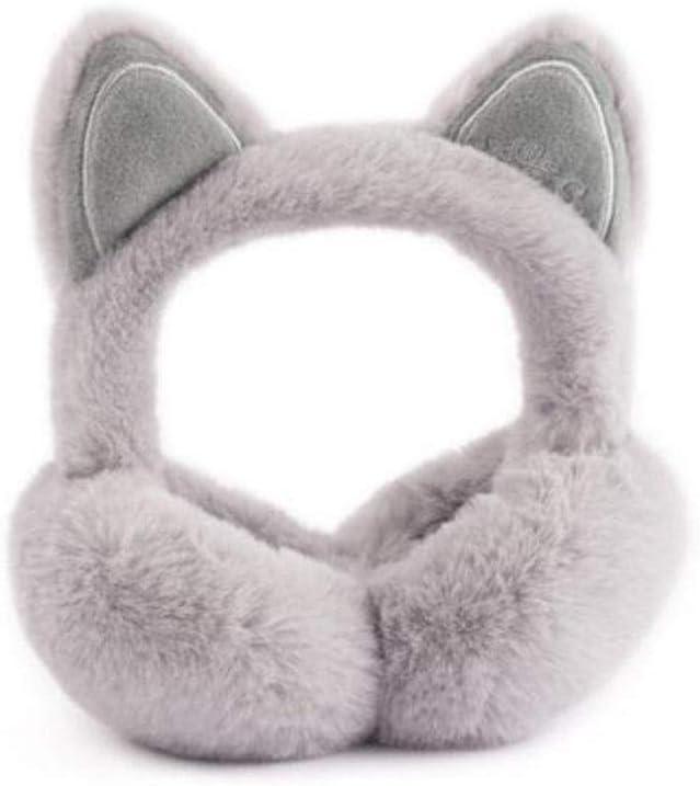 Warme Ohrensch/ützer Faltbare Nette Katzenohren Pl/üsch Ohrensch/ützer Cartoon 3D Pailletten Winter Warme Ohrensch/ützer