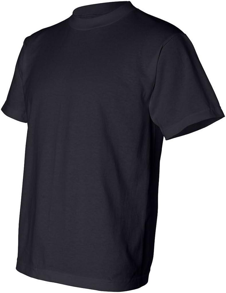 Bayside Mens USA-Made 50//50 Short Sleeve T-Shirt-1701-Large-Black