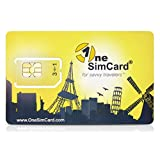 OneSimCard Plus - Prepaid International 3-in-one SIM Card for Over 200 Countries with $10 credit - International Data as low as $0.02 per MB. Compatible with All GSM Unlocked Phones -Retail Packaging