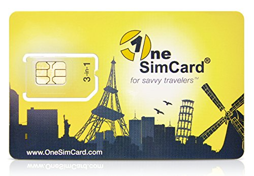 nternational 3-in-one SIM Card for Over 200 Countries with $10 credit – Voice, Text and Mobile Data as low as $0.01 per MB. Compatible with All Unlocked GSM Phones (One Sim Card)