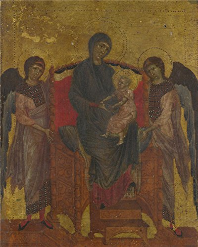 Oil Painting 'Cimabue - The Virgin And Child Enthroned With Two Angels,about 1280-5', 20 x 25 inch / 51 x 64 cm , on High Definition HD canvas prints, Bed - Center Town Westland