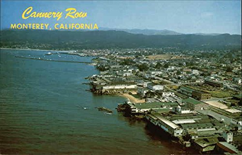 Aerial View showing Famed Cannery Row Monterey, California Original Vintage - Cannery Monterey