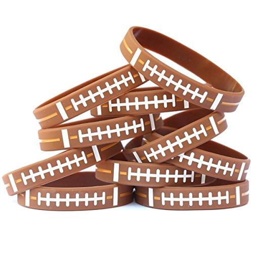 SayitBands 15 Football Design Wristband Silicone Bracelet ()
