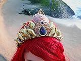 Easter Sale Ariel Gold Mermaid Crown by Star Stuff Boutique Mermaid Headress, Gold Headdress, High Energy Mermraid Headpiece, Seashell Tiara