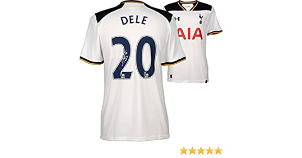Dele Alli Tottenham Hotspur Autographed 2016 17 Home Jersey Autographed Soccer Jerseys At Amazon S Sports Collectibles Store