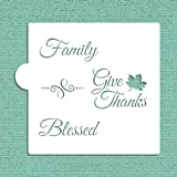 Give Thanks Cookie and Craft Stencil CM027 by Designer Stencils