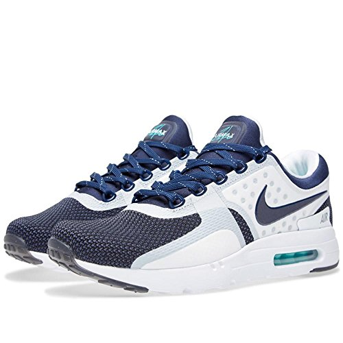 separation shoes 9c5ac 0fae5 Galleon - Nike Men s Air Max Zero QS, WHITE MID NAVY-RIFT BLUE-HYPER JADE,  8.5 M US