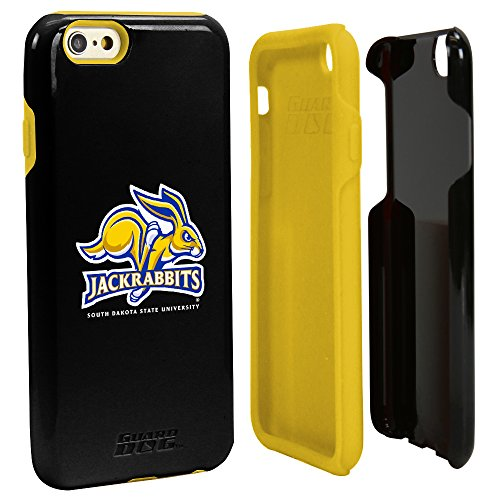 South Dakota State Jackrabbits Black Guard Dog Hybrid Case for iPhone 6/6s with Guard Glass Screen Protector free shipping