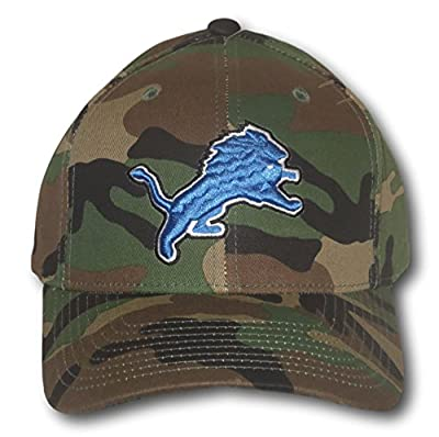 Detroit Lions Green Camouflage Adjustable Hat Lid Cap by Fan Apparel