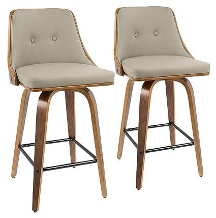 Amazing Amazon Com Lumisource 36 5 In Mid Century Modern Counter Squirreltailoven Fun Painted Chair Ideas Images Squirreltailovenorg