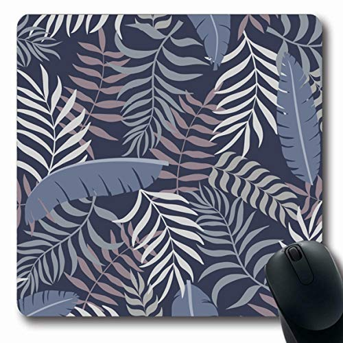 Ahawoso Mousepads for Computers Color Flower Tropical Palm Leaves Floral Garden Abstract Bali Botanical Brazil Brazilian Oblong Shape 7.9 x 9.5 Inches Non-Slip Oblong Gaming Mouse Pad